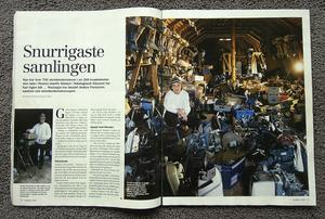 Samlartidningen Nostalgia gjorde för några år sedan en fyrasidig presentation av Anders Forsströms samlande och mekande.