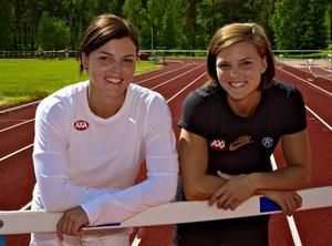 Jenny och Susanna Kallur instiftar ett stipendium till förmån för unga friidrottare i länet. Foto:  Claes Söderberg