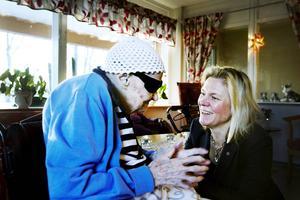 När budgeten presenterades i höstas besökte finansminister Magdalena Andersson äldreboendet Sofia Magdalena på Öster.