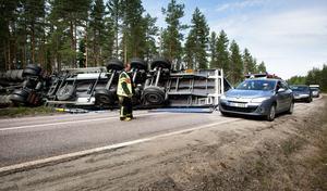 När en lastbil välte söder om Tyfors i somras var det Fredriksbergs deltidskår som ryckte ut.