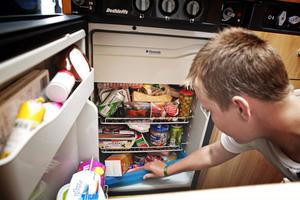 Fullt i kylskåpet.