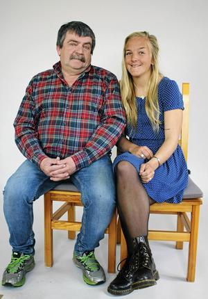 Gunnar Nilsson, född 1954 med dottern Anna Nilsson, född 1992, båda från Transtrand.