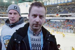 Joakim Grundberg innan JVM-semifinalen mellan Sverige och Finland.