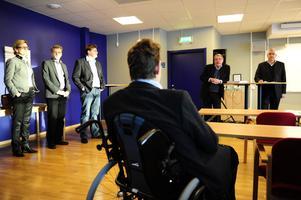 Företagsledaren Per-Olov Ejendal fanns också på plats vid presskonferensen men som åhörare.