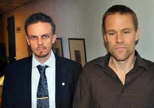 Kommundirektör Bengt Flykt och Quicklunds tf ersättare Lars Liljedahl.
