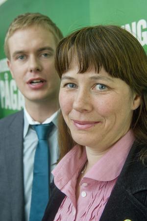 Siktar högt. Språkrören Gustav Fridolin och Åsa Romson leder ett parti som vill bli ett av de tre stora.foto: scanpix