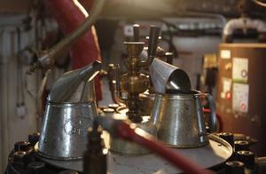 Almas ångmotor är i original och kokar vattnet med en oljebrännare. Numera finns även en dieselmotor som komplement vid frakt av båten. En varm dag är temperaturen under däck cirka 40 grader.