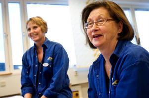 Märith Bergström-Isacsson och Gunilla Larsson har utvecklat det nya musikmaterialet för barn med Rett syndrom och andra funktionshinder.