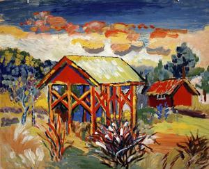 Måleri av Ester Henning.