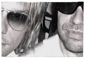 Björn med Peo Thyrén, Noices originalbasist och textförfattare, som bildade bandet när han bara var 12 år.