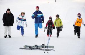 Uppvärmning på en av Almåsa AK:s träningar i mars i år.