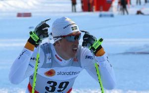 Calle Halfvarsson, Falun Borlänge, var den ende som lyckades spränga sig in i det norska blocket. Foto: Håkan Eriksson