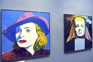 Ingrid Bergman i kändismålaren Andy Warhols tolkning - ingår i utställningen på Sundsvalls museum.