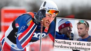 Petter Northug är petad från norska landslaget. Bild: TT/Skärmdump (Montage).