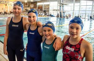 Söderhamns framgångsrika lagkappslag. Karin Englund, Victoria Flyman, Clara Bergh Och Filippa Eklund