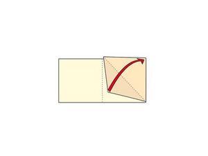 Vik eller biga de yttre kortdelarna diagonalt.
