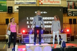 Annelie Bergsjö, Carina Sandqvist och Linda Thorström från damernas masterklass +45.