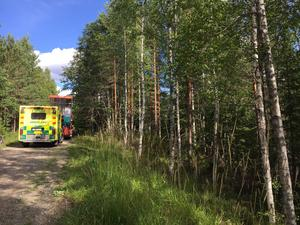 En bild från olyckan som skedde i Säters kommun.