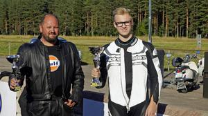 Finalparet I Super x Bike med Rasmus Östlund t.v. och Jonas Lundberg t.h.