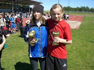 Lisa Lingvall från Österfärnebo och Elin Nord från Vallhov fick individuella priser för sina prestationer. Lisa Lingvall både kastade och hoppade längst av alla flickor medan Elin Nord sprang det snabbaste loppet av alla.