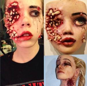 Tindra gjorde en egen variant av konstnären Colin Christians verk. Bild från Tindra Ferners Instagramkonto sfx.stuff.