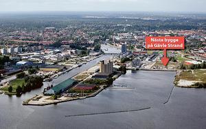 Ungefär här skulle nästa etapp av Gävle strand kunna byggas.