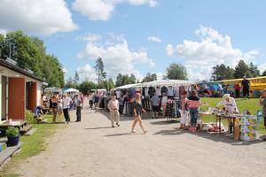Det var rekordmånga marknadsstånd i år, berättar Gunnar Högberg som räknade med mycket besökare.