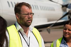 Mikael Smedberg, vd Örebro läns flygplats. /Arkivbild: Fredrik Lindéx.