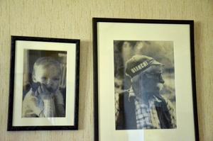 Broderier. Ett barnbarn och en farfar till Stig Björkman.