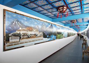 I Dragon Museum finns ett mängd sammanlänkade tavlor, som tillsammans tecknar en bild av Kinas olika provinser och kulturella och geografiska områden, alltifrån traditionella lokalsamhällen till moderna storstäder.