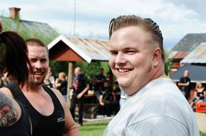 Jonas Åhlund från Bollnäslaget var sugen på öl efter en av grenarna till femkampen.