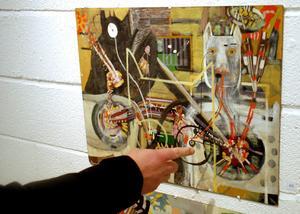 Per Höglund visar och berättar om Verner Molins konst, till stor del influerad av tankar kring
