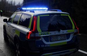 Polisen larmades i samband med olyckan.