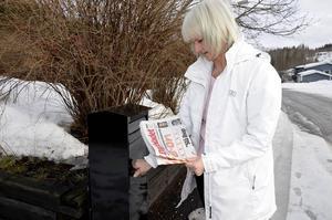 På lördag blir det sista gången som Cathy Erixon hämtar Dagbladet i brevlådan.