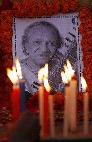 Ravi Shankar blev 92 år gammal.
