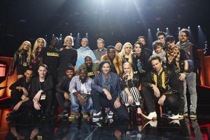 Alla artisterna under torsdagens repetitioner inför Melodifestivalens andra deltävling i Linköping.