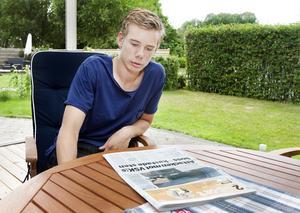 Dagen efter. Jonathan Häll dagen efter bussattacken mot VSK Fotbolls akademitrupp i Sundsvall.