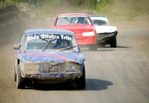 Bengt Larsson (blå bil) från Krokoms MK vann herrklassen. Bilen hade han skruvat upp med hjälp av Boda stick och trim.– Jag vet inte vad nyckeln till framgång var, men det känns riktigt bra, säger han.