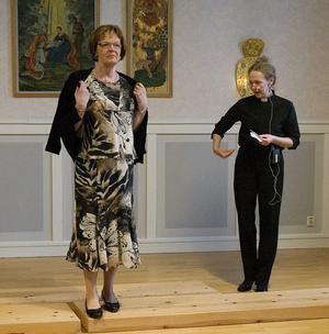 Lillemor Ohlin var mannekäng och komminister Ellinor Tidholm presenterade programmet.