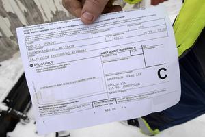 600 kronor är bötesbeloppet som parkeringsbolaget vill ha av Hasse Andersson.