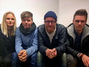 Musikmakareleverna Alessandra Günthardt, Elias Nässlin, Anton Eklund och Rasmus Palmgren har skrivit vinnarlåten i årets upplaga av