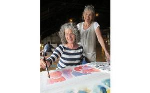 Annmari Bolander lärde akvarellteknik av Meg Ersbacken.