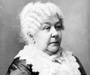 Elizabeth Cady Stanton skrev kvinnornas egen bibel.