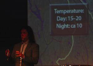 Meteorologen och författaren. Pär Holmgren har nyligen släppt en väderbok.