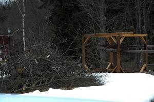 Hjul. Stånggången har fått en upprustning efter att ha fått ett träd över sig.