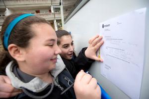Vanessa Isa och Cecilia Seyhan skrev upp sina önskemål.