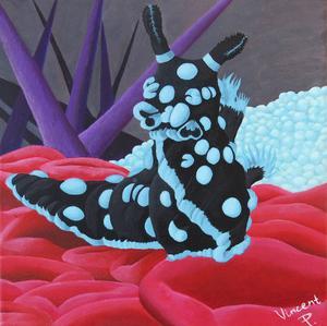 Zebrasjöhäst (Hippocampus zebra) under titeln