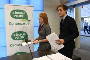 Centerledaren Annie Lööf och Emil Källström, partiets ekonomiskpolitisk talesperson, presenterade under veckan Centerpartiets förslag till budget.