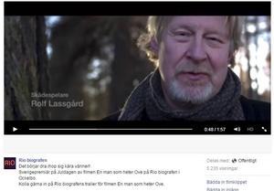 Skärmdump från reklamfilmen för Rio Bio där Rolf Lassgård medverkar.