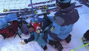 På SVT:s bilder gick en klart plågad